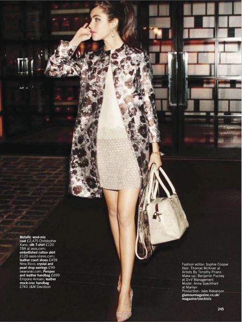 Anna Speckhart | Chris Craymer | Glamour UK April 2012 | Coat?Check! - 8 Style | Sensuality Living - Anne of Carversville Women's News