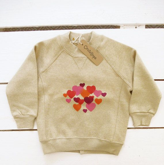 7d2b2f4258a4 sweet heart organic cotton sweater by OncleHope on Etsy