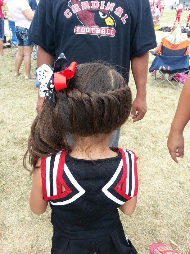 Cheer hair. Super cute! thought this was super cute