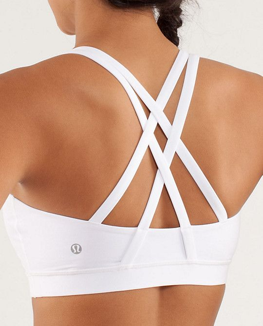 Love the Energy Bra because it fits us busty ladies.  Lululemon Energy Bra ~ White ~