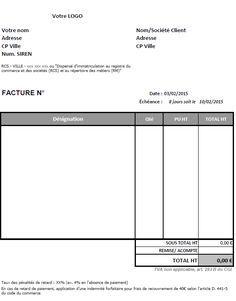 modele facture autoentrepreneur   Modele facture, Facture ...