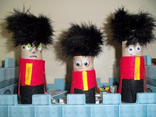 Around the World in 52 weeks makes the Queen's Guard!!  Great for England themes