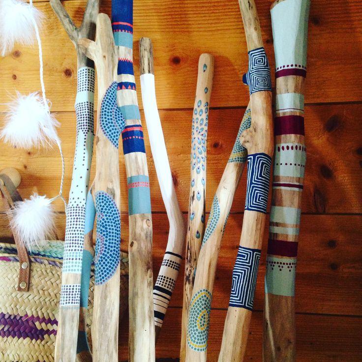 17 meilleures id es propos de bois flott peint sur for Peindre du bois flotte
