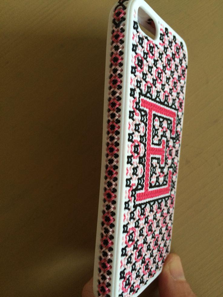 Zijkant iphone 5s borduren