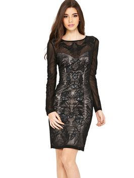 Lipsy VIP Embroidered Body Con Dress #partyinstyle