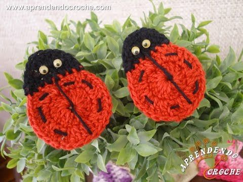 ▶ Mini Joaninhas de Crochê - Aprendendo Crochê - YouTube