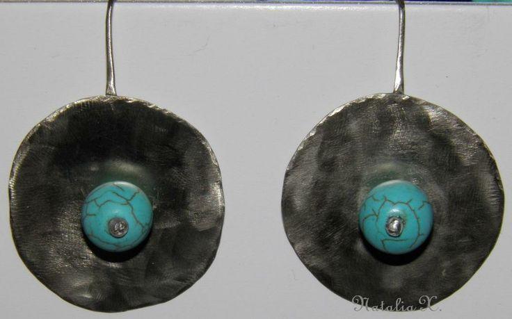 Σκουλαρίκια από αλπακά by Natalia