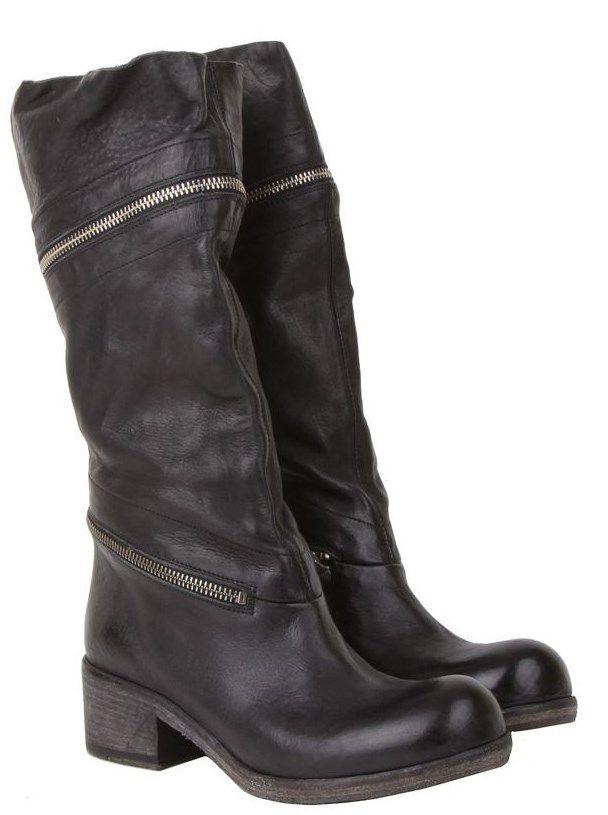 vic matie Черные кожаные женские сапоги бренда Vic Matie