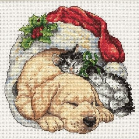 Amazon.com: Dimensions Needlecrafts Counted Cross Stitch, Christmas Morning Pets: Arts, Crafts & Sewing