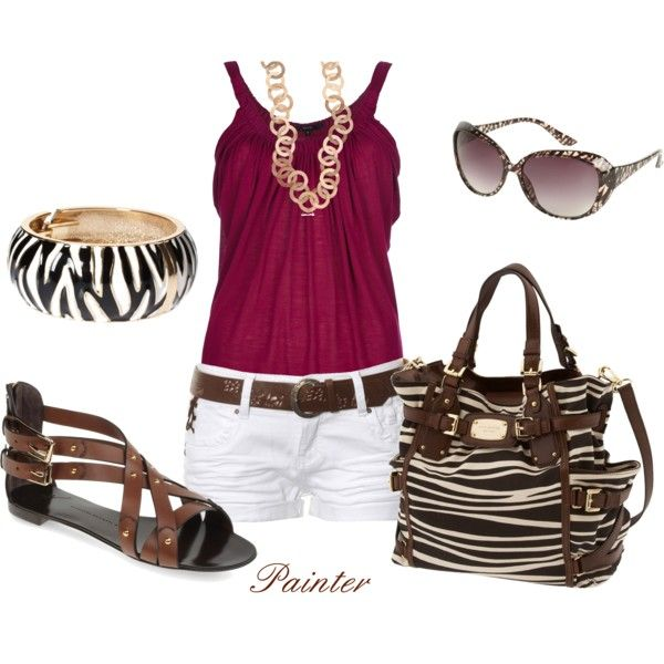 ~Zebra~: Shoes, Color, Fashion Styles, Clothes, Summer Style, Polyvore Outfits, Shorts, Zebra Print, Zebras