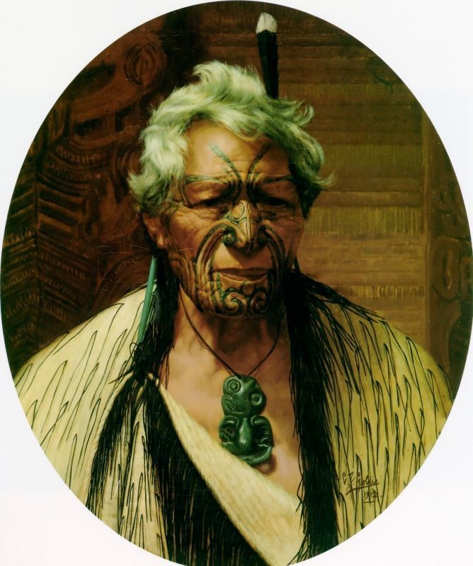 TITLE: A Noble Northern Chief, Atama Paparangi ARTIST: Charles Goldie COUNTRY OF ORIGIN: New Zealand DATE OF CREATION: 1912 AD