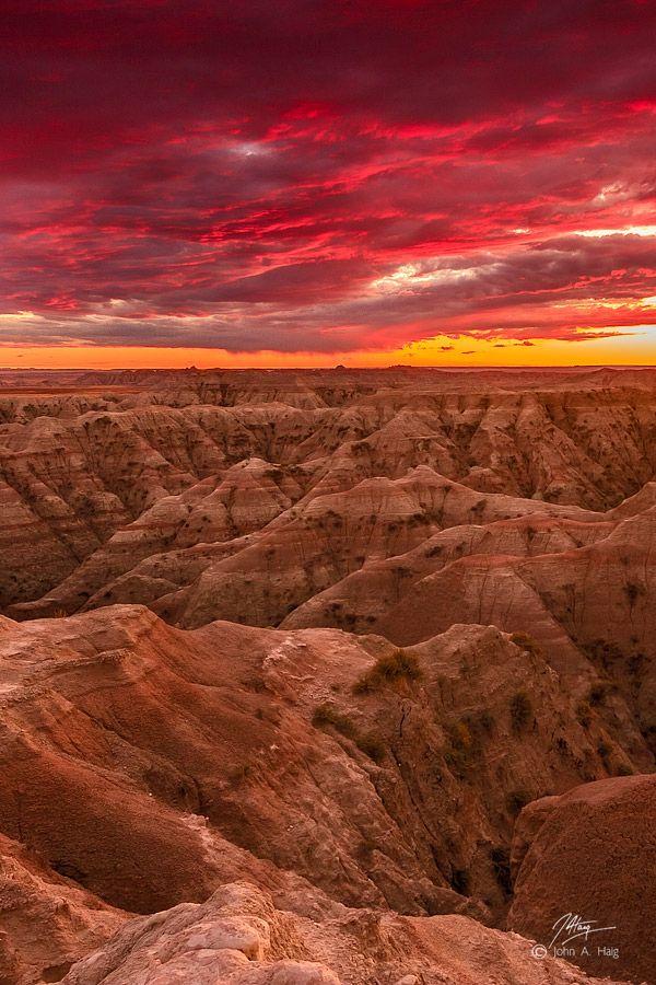 red + gold - Badlands National Park, SD.