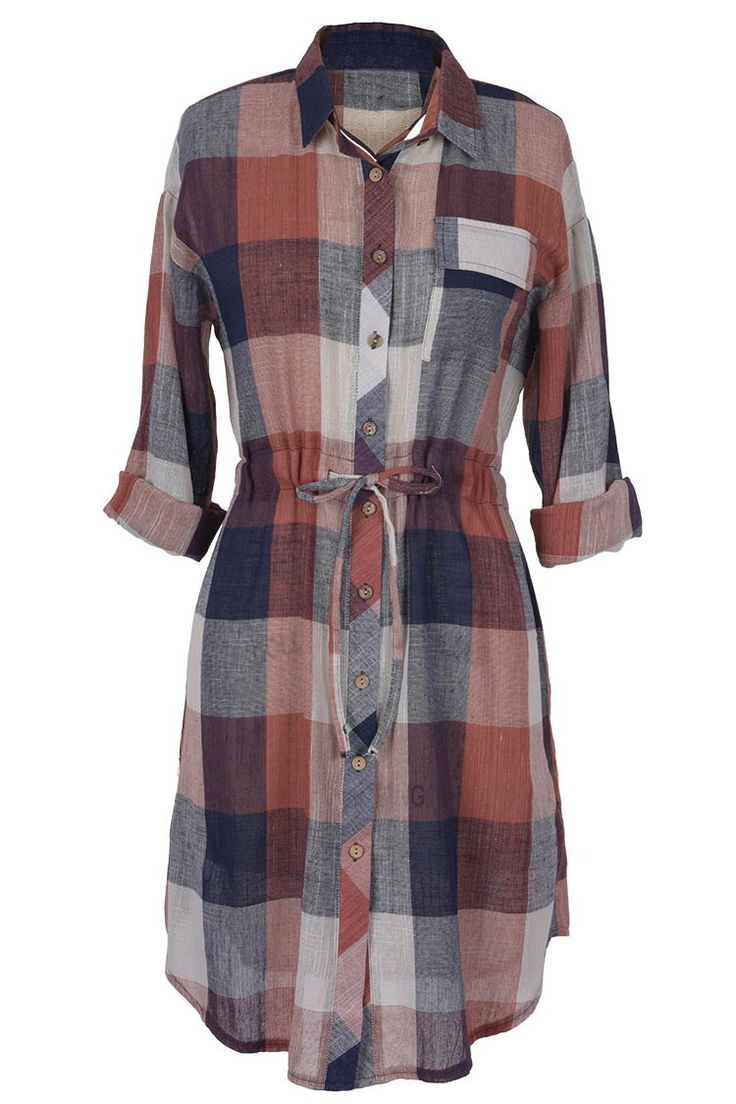 Ghost Riders Plaid Shirt Dress
