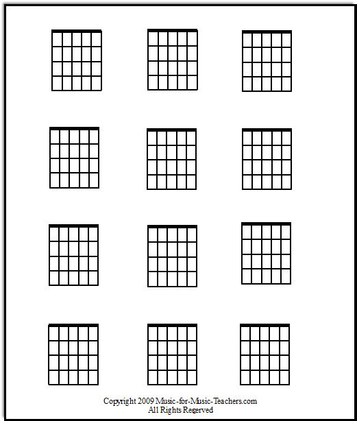 Banjo Chord Chart Template  String Banjo Chords And Keys