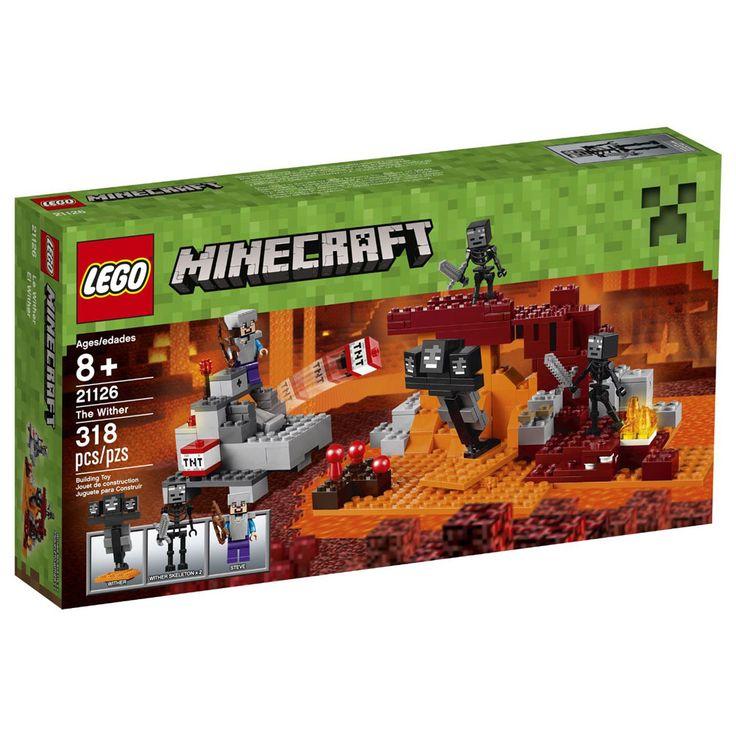 Conheça o espetacular  LEGO Minecraft - O Wither, um incrível conjunto que vai conquistar a garotada. Você descobriu uma fortaleza defendida pelo assustador wither de três cabeças e 2 esqueletos wither, nas profundezas do Nether. A estrutura proibida contém provisões vitais, tais como cogumelos e casca de plantas do Nether. Use seus conhecimentos de Minecraft para construir um canhão de TNT. Depois coloque sua armadura de ferro e capacete, agarre no arco e faça um ataque surpresa! Dispare o…