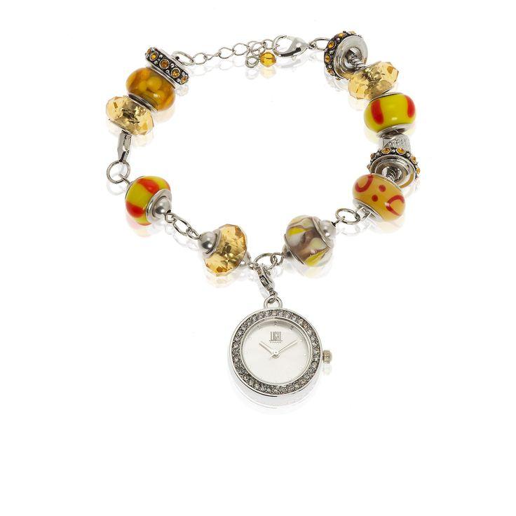 Bracciale-orologio con rondelle in vetro colorato - QVC Italia