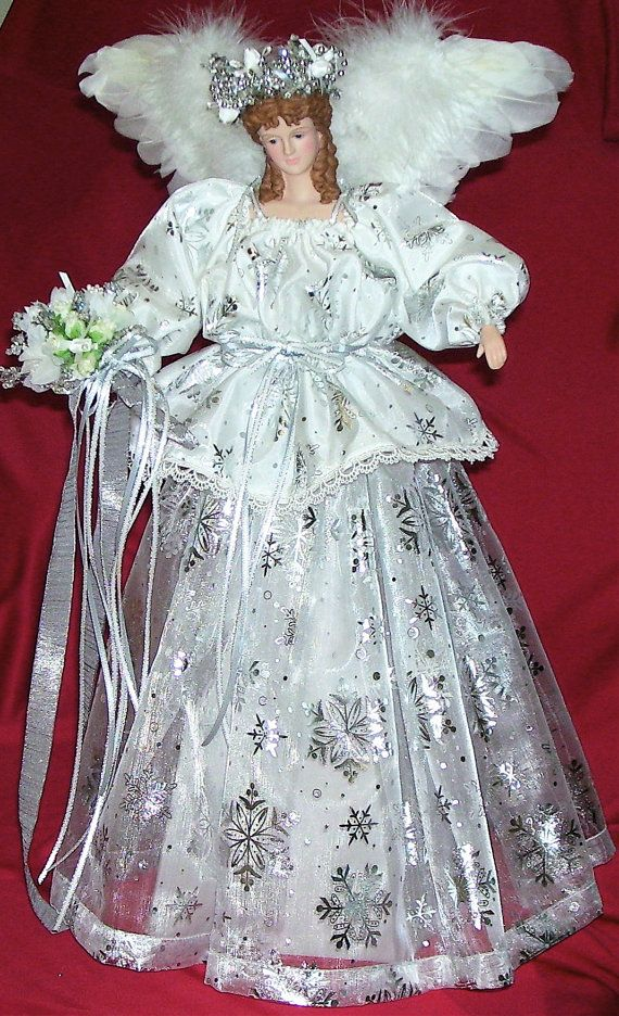 Handmade Angel Christmas Tree Topper The Gift of by DollmakerNic, $155.00  A Christmas Tree Topper for beautiful gift or centerpiece for the Winter Wedding!: