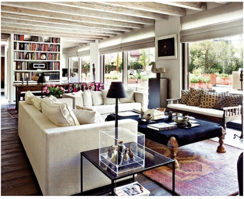 AhhhhhCozy Living Room, Living Rooms, Windows Covers, Exposed Beams, Expo Beams, Interiors, Livingroom, Living Room Shelves, Ranch Style Home
