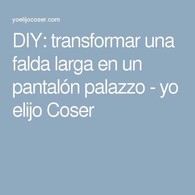 DIY: transformar una falda larga en un pantalón palazzo - yo elijo Coser