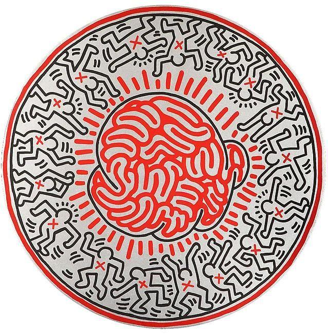 Keith Haring (1958-1990) Sans titre, 1985, signée et datée au dos «17 octobre 85…