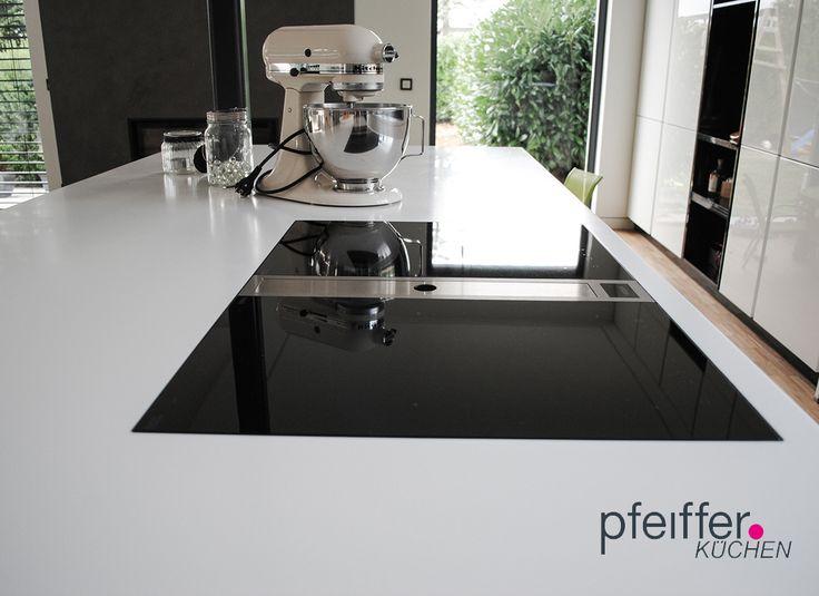 BORA Classic flächenbündig integriert in CORIAN-Arbeitsplatte Das - küchenarbeitsplatte aus beton