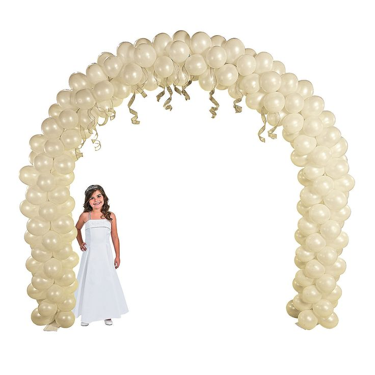 Balloon Arch Frame - $79.00 - Just add your own balloons to this arch to create a extraordinary decoration that no big event should be without! At 8 ft. x 9 ft., this large metal frame is sure to create an eye-catching spectacle all your guests will enjoy. Perfect for weddings, proms, business banquets or wherever you need a enchanting entryway or focal point, you'll never go wrong with this Balloon Arch Frame. Requires approx. 100 balloons to fill arch. Assembly required…