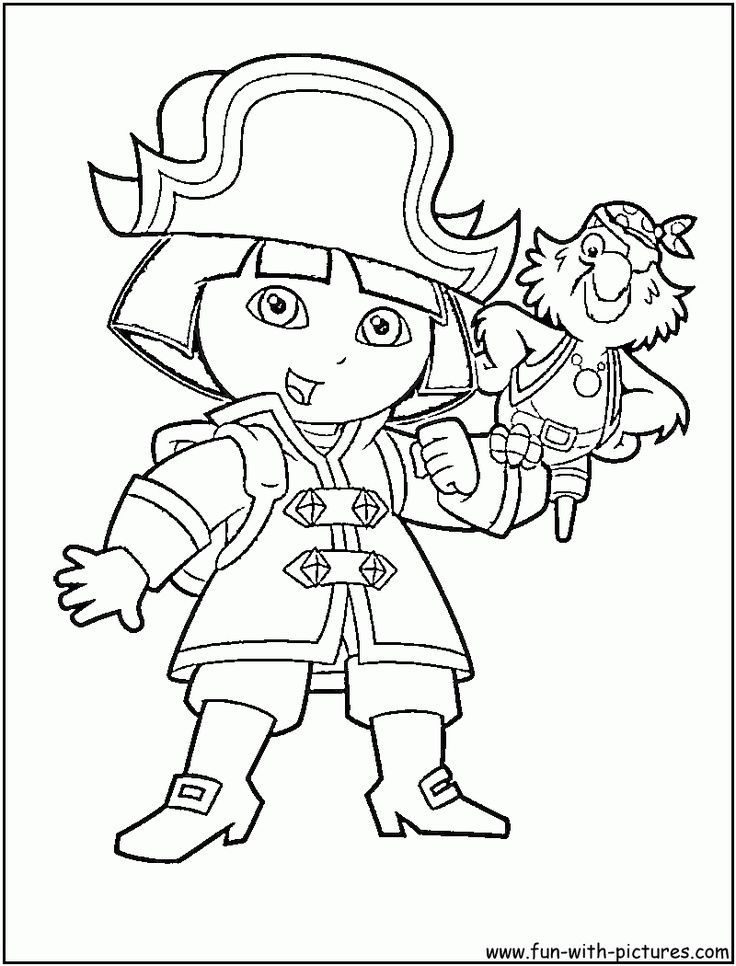 dora coloring pages halloween goblin - photo#39