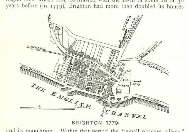 And heading further back into time, here's Brighton in 1779 - with a footpath to Hove... /British Library