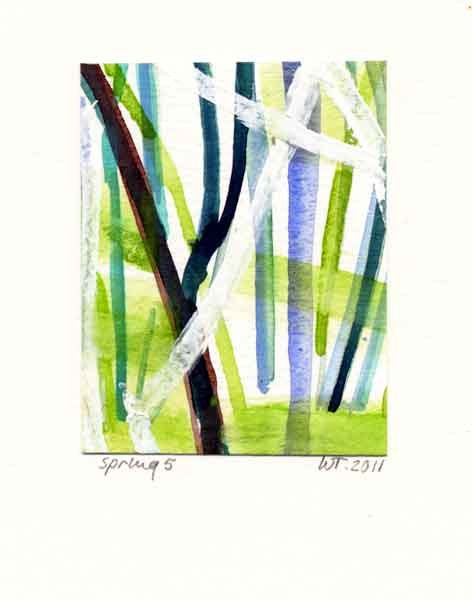 exactly what i need for my living room: Originals Paintings, Spring Stripes, Facts, Living Room, Stripes Limes, Limes Green, Trees Stripes, Paintings Watercolor, Watercolor Trees