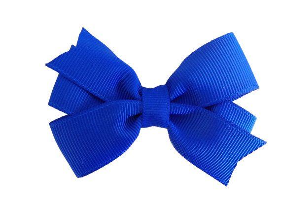 3 inch blue hair bow - blue bow, royal blue hair bow on Etsy, $3.50