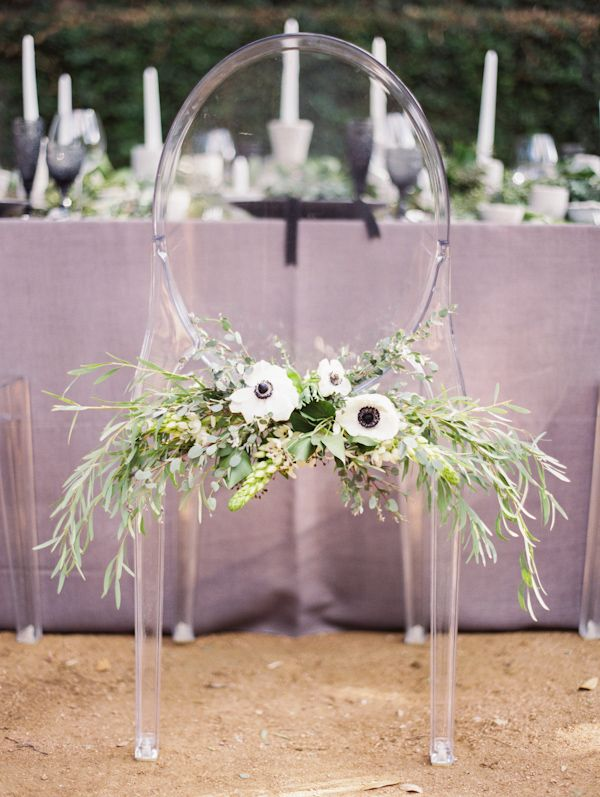 Wedding Decor Inspiration – 8 Fantastic Bride and Groom Chair Decor from Junebug's Real Weddings Library