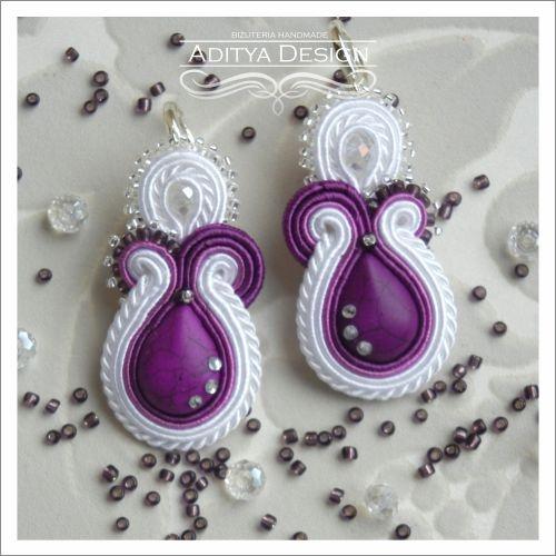 Pretty Purple Soutache  by AdityaDesign