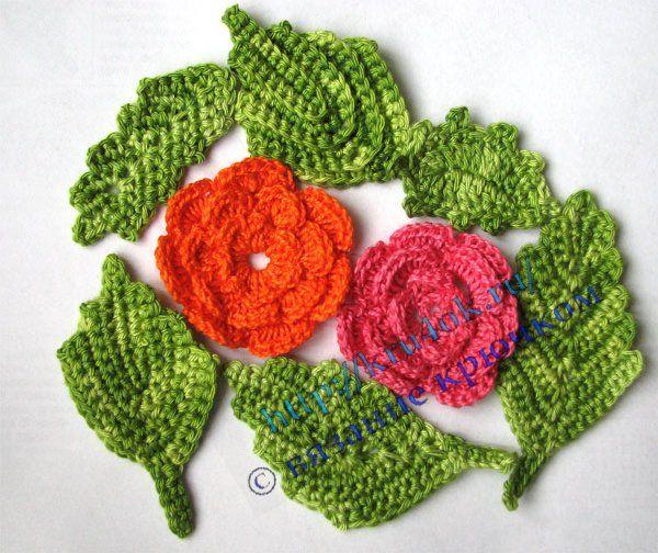 crochet leaves (part 1)