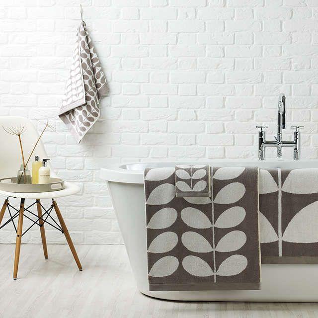 BuyOrla Kiely Stem Jacquard Face Cloth, Grey Online at johnlewis.com