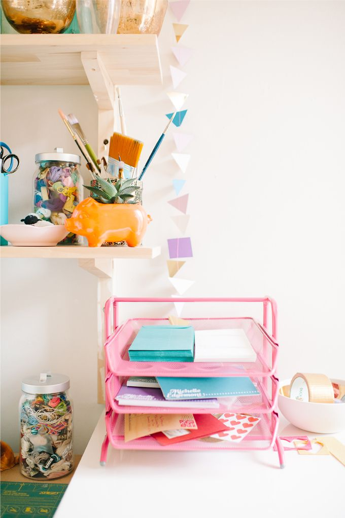 colorful office organization.