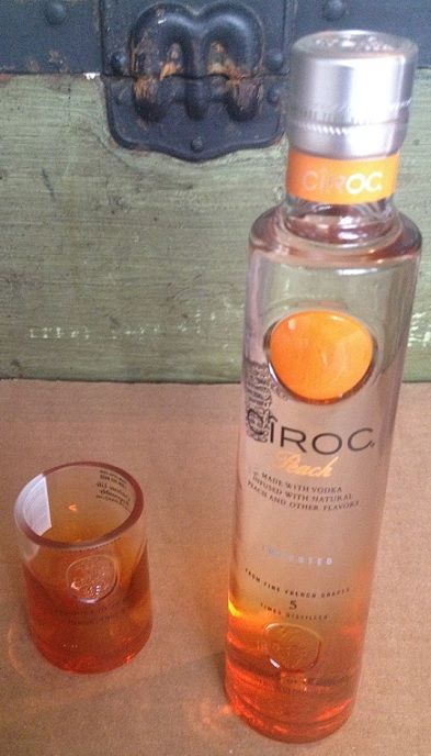 Ciroc shot glass made from an empty bottle in little rock for Making glasses from bottles