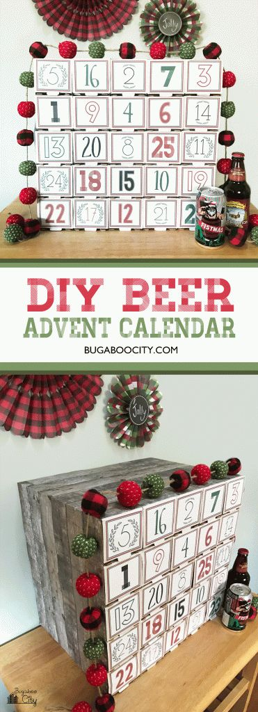 DIY Beer Advent Calendar! Perfect gift for men or any craft beer enthusiast! Tutorial and free number template
