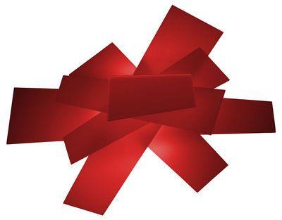Scopri Applique Big Bang -Plafoniera, Rosso di Foscarini, Made In Design Italia