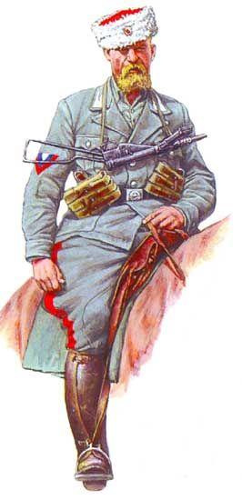 """Regio Esercito - Cosacco del Gruppo Separato Savoia Cavalleria, Reggimento """"Lancieri di Novara"""", Russia, 1943"""
