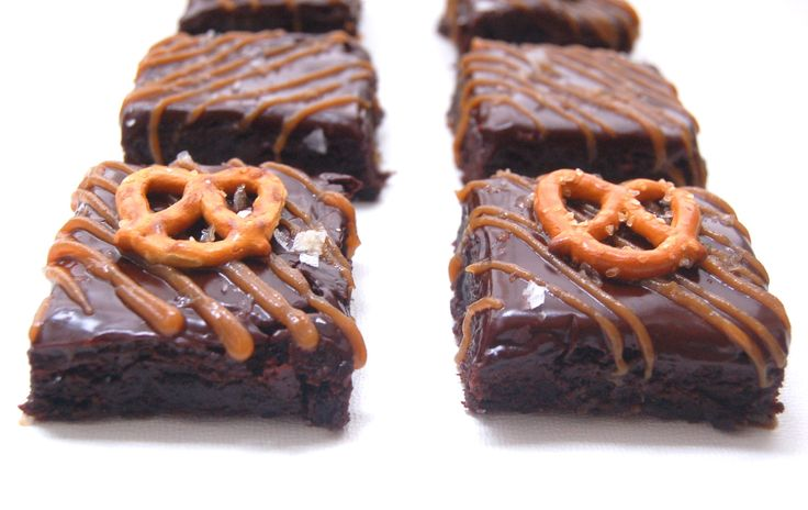 Fudgy Salted Caramel Pretzel Brownies | Desserts | Pinterest