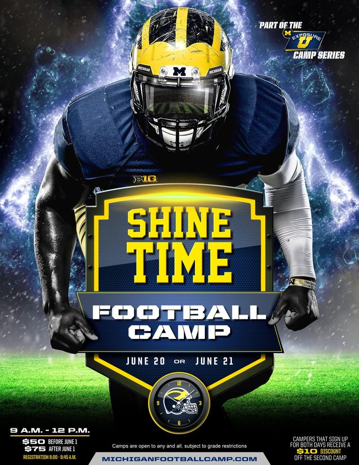 College Football Camp Flyers Dolapgnetband