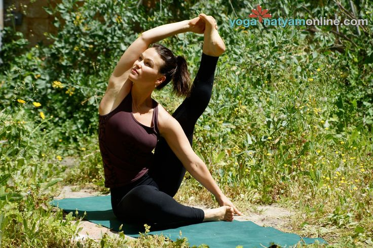 Compass Pose (aka Sundial Pose) | http://YogaNatyamOnline.com