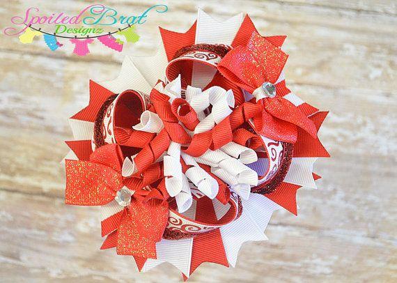Valentine Stacked Korker Hairbow Ready to by spoiledbratdesignz, $12.00