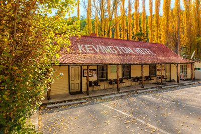 THE LAST REMAINING EXAMPLE Kevington, Victoria, Australia. 'In the Goldrush Era in the 1860's, John and Mary Garrett travelled from Beechworth to the new find in the Upper Goulbourn Valley. They established themselves at a place then known as Macs Creek. In 1862 they opened on the banks of the Goulbourn River a beerhouse, simply known as Garretts Beerhouse. As time went by, the beerhouse became known as the Kevington Hotel. [www.kevingtonhotel.com.au]