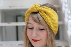 DIY : tuto du bandeau en laine au point mousse. Source : Rose Sucre                                                                                                                                                                                 Plus