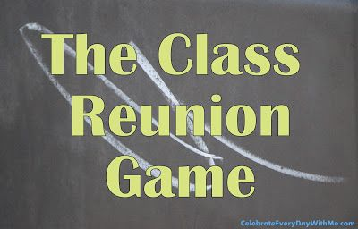 Class Reunion Game - great list of questions and clever prizes!