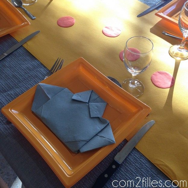 32 best d co de table pliage de serviette images on pinterest - Pliage de serviette original ...