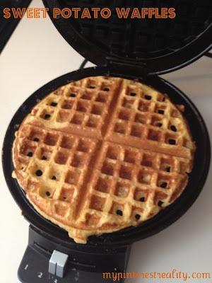My Pinterest Reality: Healthy Eats Friday- Sweet Potato Waffles
