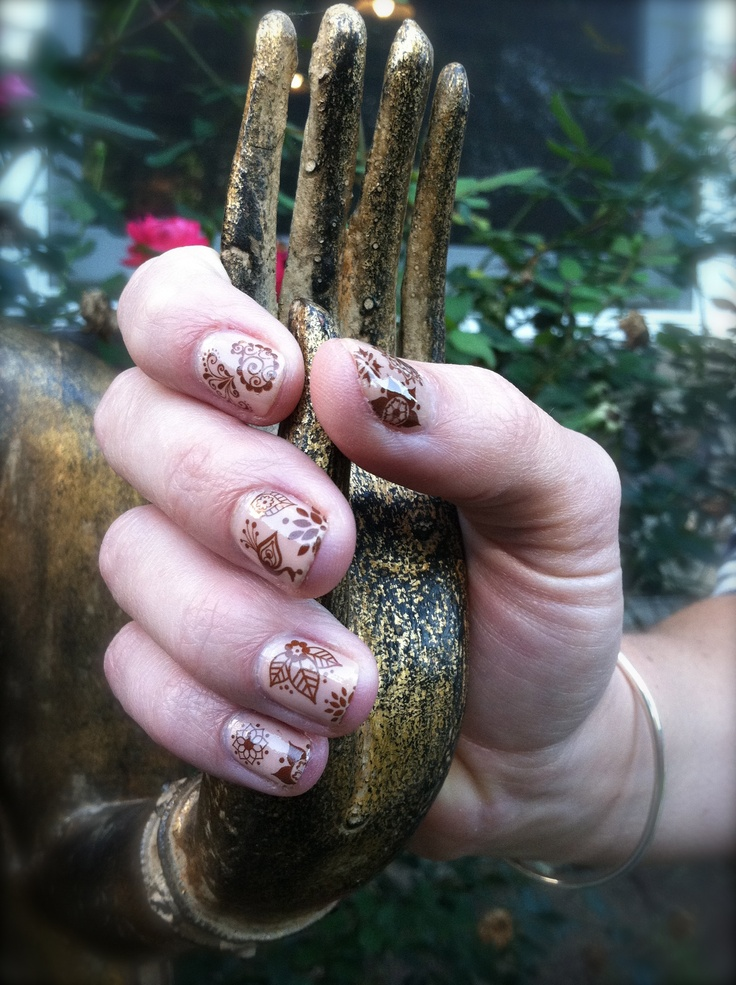 Glory Mehndi For Nails : Ideas about henna nails on pinterest nail