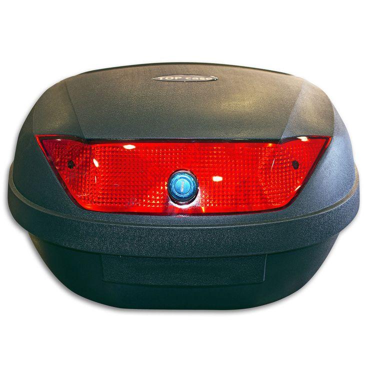 Μπαγκαζιέρα μηχανής Standard χωρητικότητας 51Lt, από την εταιρεία TOP Case. Διαθέτει κρύσταλλο σε κόκκινο χρώμα και συνοδεύεται με την βάση στήριξης.